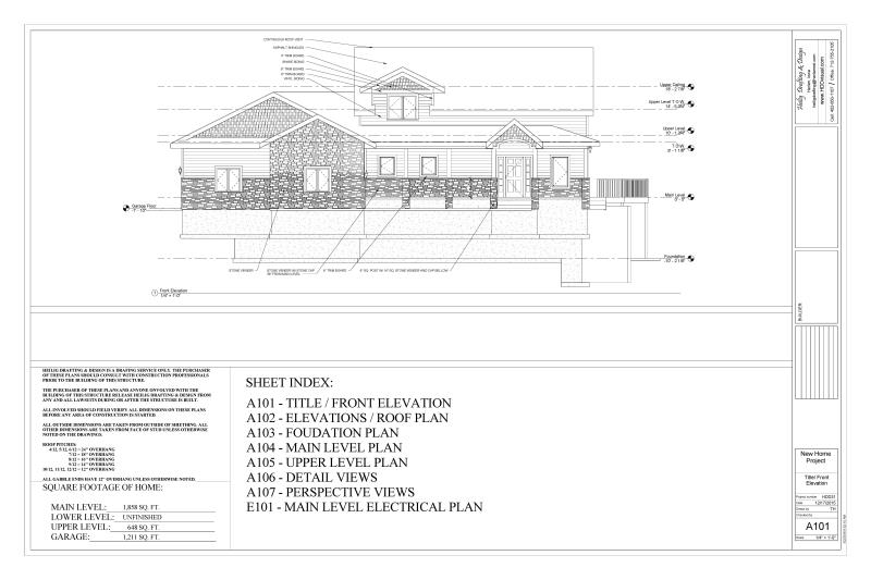 Sample Front Elevation View : Drafting